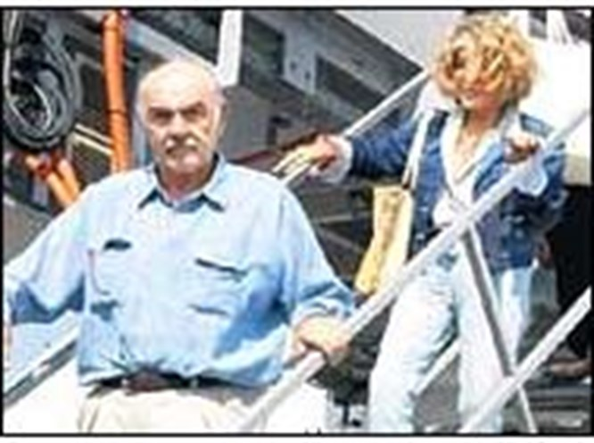 Sean Connery tatile geldi